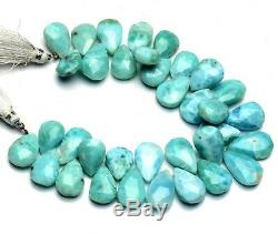 Natural Rare Gem Larimar Faceted 15x11 to 19x12MM Pear Shape Briolette Beads 8