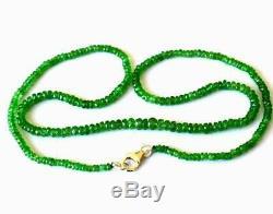 Natural Very Fine Rare Tsavorite Garnet Beads Rondelle Necklace 18 #d11041
