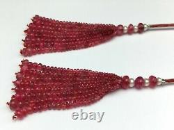 Natural dyed Ruby Spinel rondelle shape loose beads Rare tassels for earring