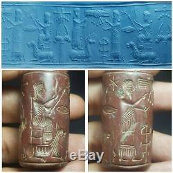 Near eastern mystery unseen cylinderseal bead rare jusper stone seal