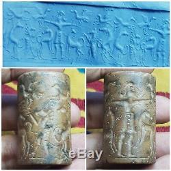 Neareastern unseen rare stone historian cylinderseal bead