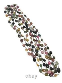 New RARE Rarities Carol Brodie 150ct Colors of Tourmaline 72 Sterling Necklace