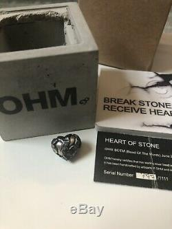 Ohm Beads Heart Of Stone Bead Of The Month BOTM jun 17 Rare HTF Le
