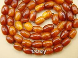 Old Real Antique Rare Natural Amber Necklace / Rosary / Prayer Beads / 13 Grams