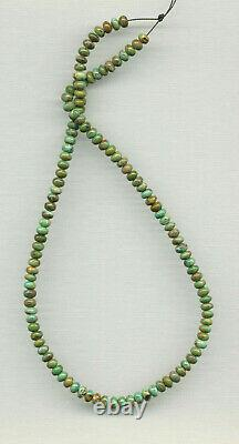 Old Stock Rare Mcguinness Mcginnis Turquoise Rondelle Beads 18 321d