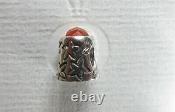 Pandora Genuine THIMBLE Charm Orange Carnelian Stone No 79364K Retired Very Rare