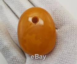 Pendant Stone Amber Natural Baltic 30,1g White Vintage Old Rare Special E-330