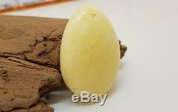 Pendant Stone Amber Natural Baltic White 11,4g Vintage Rare Old Special F-615