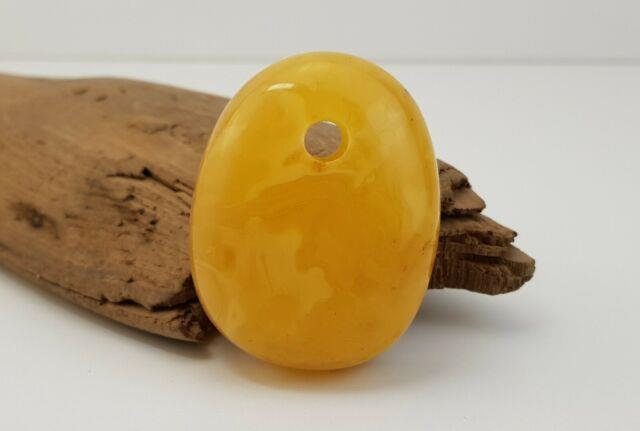 Pendant Stone Amber Natural Baltic White Rare 30,2g White Old Sea Special A-364