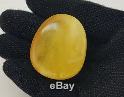 Pendant Stone Amber Natural Baltic White Rare Sea Vintage 29,7g Special A-361