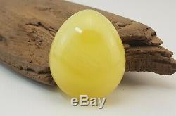 Pendant Stone Amber Natural Baltic White Vintage Rare Egg Yolk 15,1g Old A-805