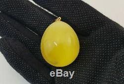 Pendant Stone Natural Amber Baltic 19,8g Special Old Sea Vintage Rare White 240
