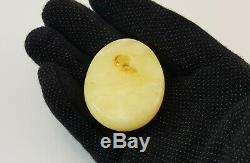 Pendant Stone Natural Amber Baltic White 24,1g Rare Sea Vintage Old White 271