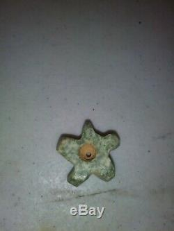 Pre-Columbian Gear/Star Shaped Jade Bead, Authentic, Rare