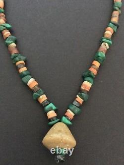 Pre-columbian Bead Necklace Moche Peru Circa 100 800 Ad Rare