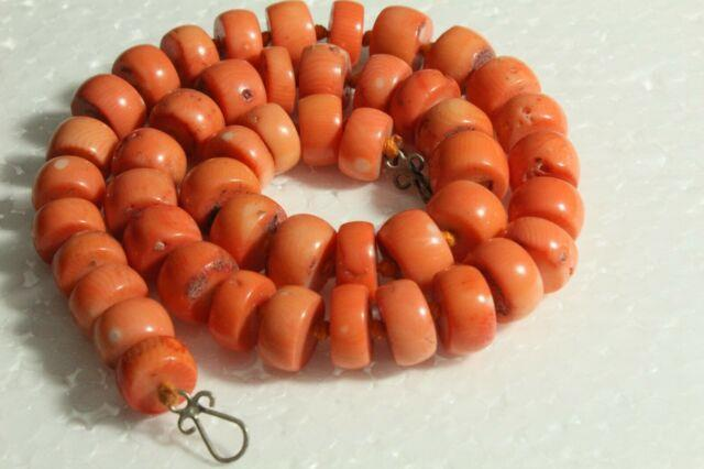 Pretty Charm 100% Natural Necklace With Mediterranean Coral Authentic Coral Rare