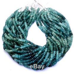 RARE 110CT GRANDIDIERITE Gemstone Smooth Rondelles Beads 16Inch Strand