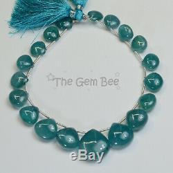 RARE 140CT Grandidierite Smooth Heart Briolette Beads 8.8 inch Strand