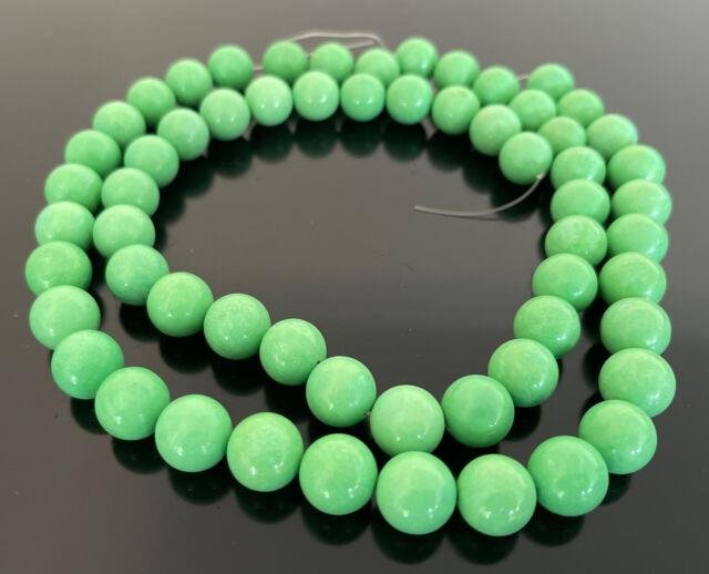 Rare Australian Gaspeite Round Nugget Beads Medium 220 Grams