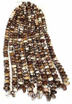 RARE Arizona Wild Horse BIG 8-16mm Graduating Wheel Rondell Beads, 18 inch Stran