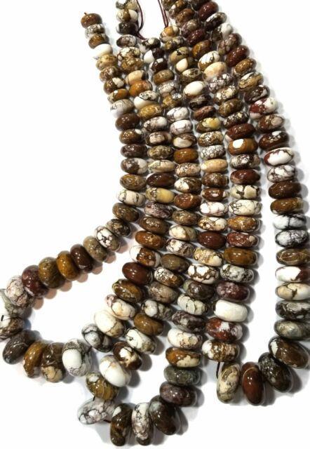 Rare Arizona Wild Horse Big 12-22mm Graduating Wheel Rondell Beads, 18 Inch Stra