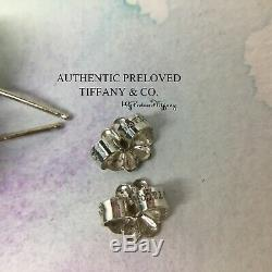 RARE Authentic Tiffany & Co Dolomite 10mm Bead Stud Earrings Silver