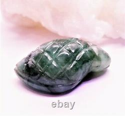 RARE EMERALD CARVED BEAD 30mm 39cts FABULOUS NATURAL UNTREATED OLD STOCK GEM