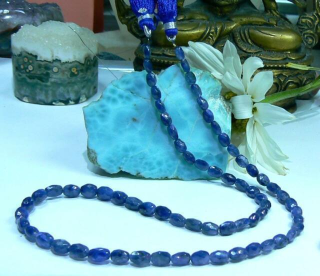 Rare Genuine Natural Gem Grade Blue Faceted Sapphire Beads 72ct 16 Strand