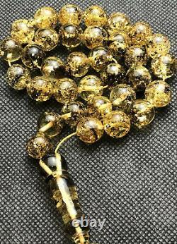 RARE Green ONE STONE Natural Baltic Amber Islamic prayer beads