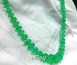 RARE IN MILLIONS Natural gemstone green COLOMBIAN emerald WATERMELON necklace