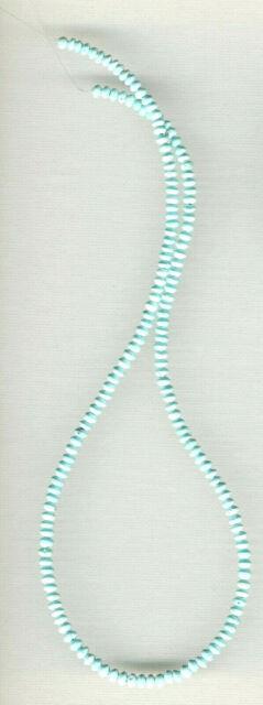 Rare, Matte Finish Mexican Turquoise Bi-cone/rondelle Beads 18 Strand 291