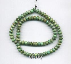 RARE MCGUINNESS MCGINNIS TURQUOISE RONDELLE BEADS 18 Strand 158D