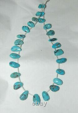 RARE MEXICAN NACOZARI MINE TURQUOISE NUGGET DROP BEADS 15 Strand 058D