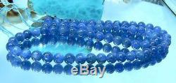 RARE NATURAL CHATOTANT BLUE 6mm ROUND KYANITE BEADS STRAND 15.75 140ctw