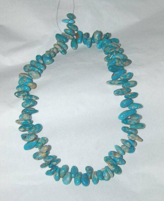 Rare Nevada Fox Mine Turquoise Nugget Drop Beads 18 Strand 2051c