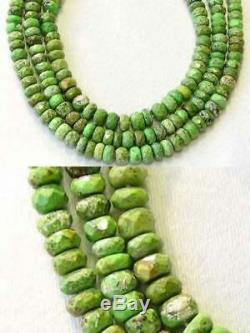 RARE Natural GASPEITE Faceted Roundel Bead STRAND109183