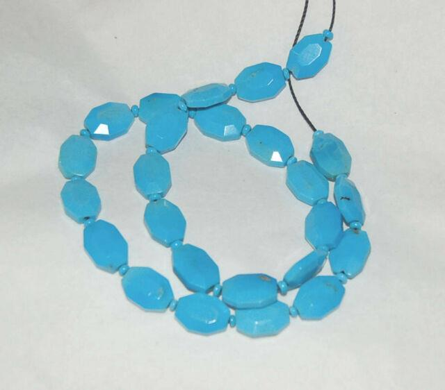 Rare-sleeping Beauty Turquoise Faceted Octagon Shape Beads 16 Strand 1752c