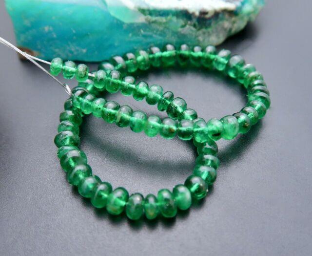 Rare Stunning Gem Grade Aaaaa+ Brazilian Emerald 2.3-3.5mm Beads 9.95cts