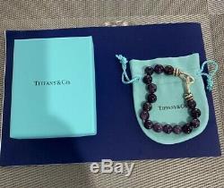 RARE Tiffany & Co. Paloma Picasso Size 8mm Amethyst Bead Bracelet SIZE LARGE