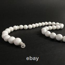 RARE White JADE Stone Islamic Beads Prayer Rosary Chaplet. W. 86 gr