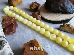 RARE XL 16.5m 120gr Natural STONE Baltic Amber Prayer Beads Rosary