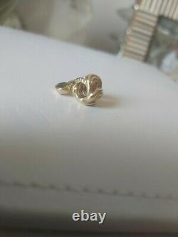 Rare! 14K Gold Pandora Peridot Gem Dangle Charm