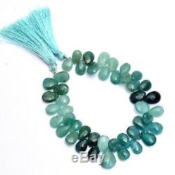 Rare AAA+ Grandidierite Gemstone 10mm-12mm Pear Briolette Faceted Beads 8Strand
