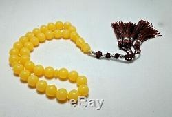 Rare Amber Kahrman Kahrab Islamic Tasbeeh Beads