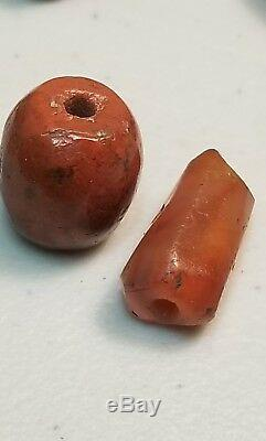 Rare Ancient Faceted Banded Jasper Agate Carnelian Stone Beads