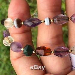 Rare Ancient Pyu Amethyst, Crystal, Agate, Quartz, Citrine, jasper Stone Beads #498