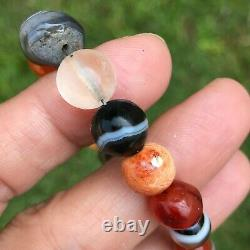 Rare Ancient Pyu Crystal, Carnelian, Quartz, Agate Stone Beads #B267