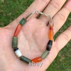 Rare Ancient Pyu Multi Color Stone Beads Bracelet #B300