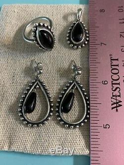 Rare And Retired HTF Complete James Avery Beaded Onyx Set