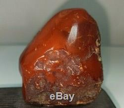 Rare Antique Vintage Beautiful Red Natural Baltic Amber Stone Butterscotch 44 g